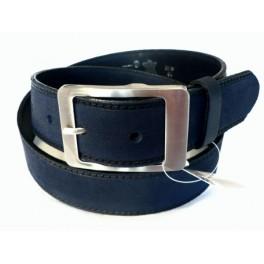 NUBUCK BLUES - dámský kožený pásek šíře 4 cm