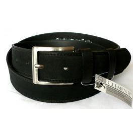 STRONG GUY NUBUCK černý - pánský kožený opasek šíře 4 cm