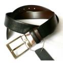 OBOUSTRAN - luxusní pánský kožený oboustranný pásek, šíře 3,5 cm