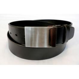 FORMAL X široký - pánský kožený opasek s plnou sponou, šíře 4 cm