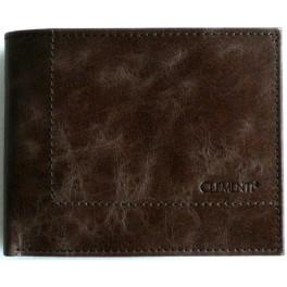JUNIOR Brown Marble - menší pánská kožená peněženka