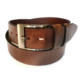 USED LOOK - pánský kožený opasek šíře 4 cm